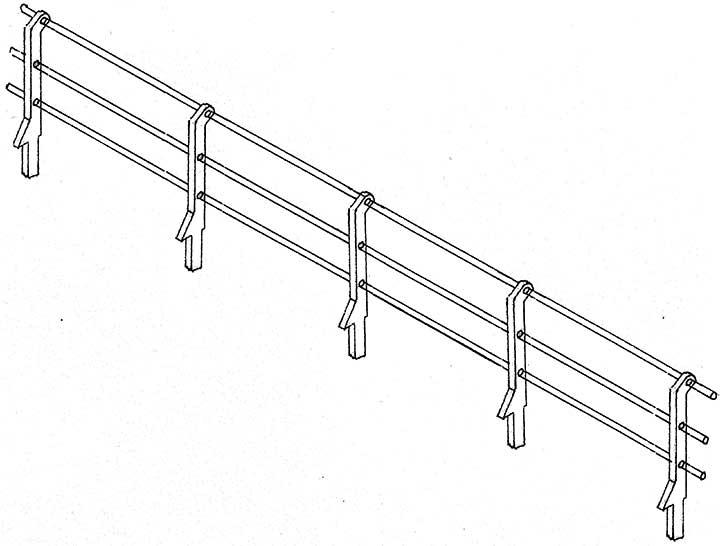 1:160 Geländer für Ufermauern, 40 Stück-Weinert 6989  | günstig bestellen bei Weinert-Bauteile
