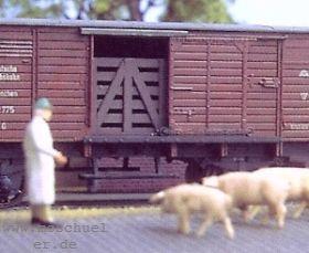 H0 Vorsatzgitter zur Viehbeförderung in gedeckten Güterwagen, Weissmetall - Weinert 3369  | günstig bestellen bei Weinert-Bauteile