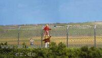 H0 Maschendrahtzaun mit Betonpfählen, L=ca. 100cm, Vorbildhöhe 2,00m - Weinert 3395    günstig bestellen bei Weinert-Bauteile