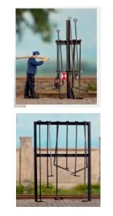 Weinert 3382 Zaun mit Betonpfählen schwere Ausführung H0 1 zu 87 Bausatz Messing