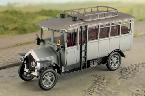 Sächsischer Omnibus, Bj. 1912, Komplettbausatz - Weinert 40054 - mit RP25 Radsätzen + Autoreifen - unmotorisiert  | günstig bestellen bei Weinert-Bauteile