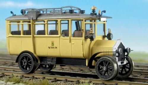 Sächsischer Schienenomnibus, Bj. 1912, Komplettbausatz - Weinert 40055  - mit NEM-Radsätzen und Mabuchi-Motor | günstig bestellen bei Weinert-Bauteile