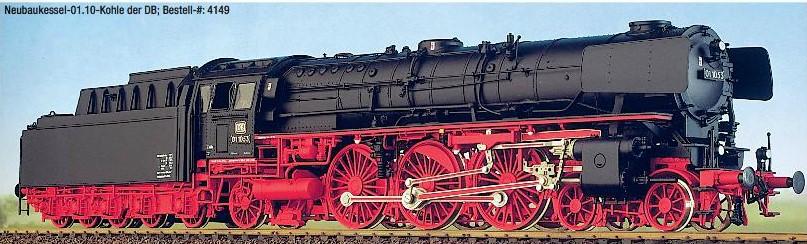 DB BR 01.10 Neubaukessel, Kohletender, ab 1962 – Weinert 4148  - mit NEM-Radsätzen | günstig bestellen bei Weinert-Bauteile