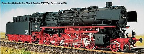 DB Ep.3a BR 44 DB mit Witte-Windleitblechen, Kohleversion - Weinert 4185 - Ausführung mit NEM-Radsätzen | günstig bestellen bei Weinert-Bauteile
