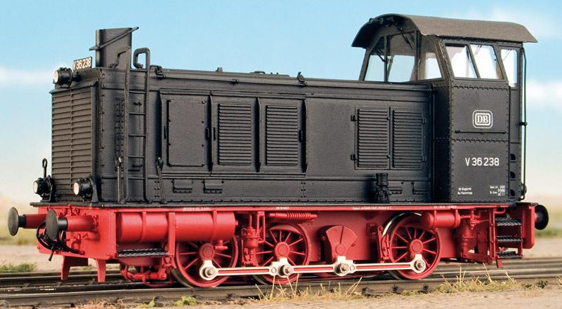 DB V36 mit Hochführerhaus, Bausatz mit Faulhaber-Motor – Weinert 4233  - mit RP25-Radsätzen | günstig bestellen bei Weinert-Bauteile