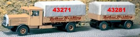 1:87 Anhänger 2-achsig mit Beschriftung Arthur Weidling - Weinert 43281  | günstig bestellen bei Weinert-Bauteile