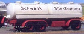 1:87 Anhänger 3-achsig mit Zementsiloaufbau - Weinert 4340  | günstig bestellen bei Weinert-Bauteile