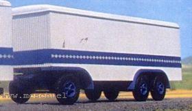 1:87 Anhänger 3-achsig mit Holzkofferaufbau - Weinert 4342  | günstig bestellen bei Weinert-Bauteile