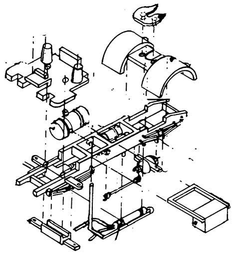 1:87 Chassis für Magirus-Führerhaus von Wiking - Weinert 4363  | günstig bestellen bei Weinert-Bauteile