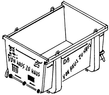 1:87 Haus-zu-Haus-Container mit Beschriftungssatz - Weinert 4366  | günstig bestellen bei Weinert-Bauteile