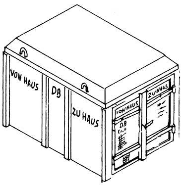 1:87 Haus-zu-Haus-Behälter Ekrt geschlossene Ausführung - Weinert 4367  | günstig bestellen bei Weinert-Bauteile