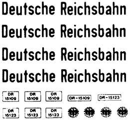 1:87 Beschriftung für LKW Deutsche Reichsbahn - Weinert 4372  | günstig bestellen bei Weinert-Bauteile
