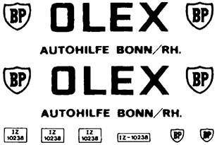 1:87 Beschriftung Olex für Tankwagen - Weinert 4373  | günstig bestellen bei Weinert-Bauteile