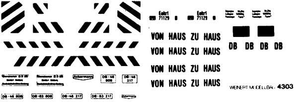 1:87 Beschriftung Haus-zu-Haus Container - Weinert 4374  | günstig bestellen bei Weinert-Bauteile