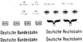 1:87 Beschriftung, DB und DRG für Kaelble-Zugmaschinen - Weinert 4378  | günstig bestellen bei Weinert-Bauteile