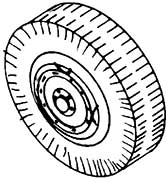 1:87 Radsatz Einfachreifen, d=12,8mm, z.B. für Faun, 2 Stück - Weinert 4396  - Weissmetall | günstig bestellen bei Weinert-Bauteile