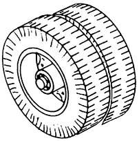 1:87 Radsatz Doppelreifen, d=12,8mm, z.B. für Faun, 2 Stück - Weinert 4397  - Weissmetall   günstig bestellen bei Weinert-Bauteile
