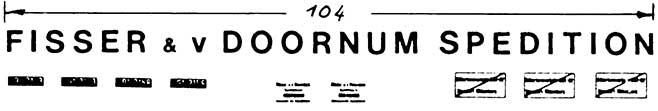 1:87 Beschriftung Fisser & v.Doornum für Sattelzugmaschinen - Weinert 4414  | günstig bestellen bei Weinert-Bauteile