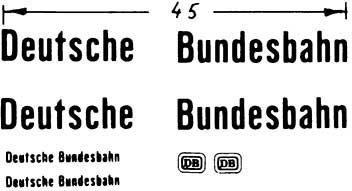 1:87 Beschriftung Deutsche Bundesbahn - Weinert 4416  | günstig bestellen bei Weinert-Bauteile