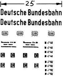 1:87 Beschriftung Deutsche Bundesbahn - Weinert 4417  | günstig bestellen bei Weinert-Bauteile
