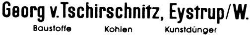 1:87 Beschriftung Baustoffe Goerg von Tschirnitz - Weinert 4418  | günstig bestellen bei Weinert-Bauteile