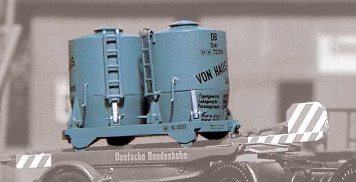 1:87 Behälter Haus-zu-Haus auf Transportschiene - Weinert 4420  | günstig bestellen bei Weinert-Bauteile