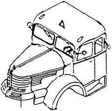 1:87 Führerhauskabine Krupp Titan - Weinert 4421  | günstig bestellen bei Weinert-Bauteile
