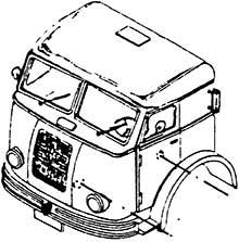 1:87 Führerhauskabine Henschel - Weinert 4422  | günstig bestellen bei Weinert-Bauteile