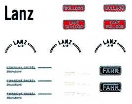1:87 Beschriftung für Traktoren z.B. Lanz - Weinert 4424  | günstig bestellen bei Weinert-Bauteile