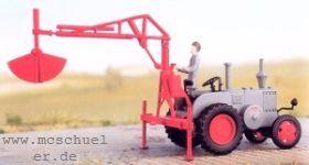 1:87 Hydraulischer Atlas-Lader Weyhausen Typ 600 zum Anbau an Traktoren, Baujahr 1949 - Weinert 4436  | günstig bestellen bei Weinert-Bauteile