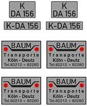 1:87 Beschriftungssatz Baum - Weinert 4448  | günstig bestellen bei Weinert-Bauteile