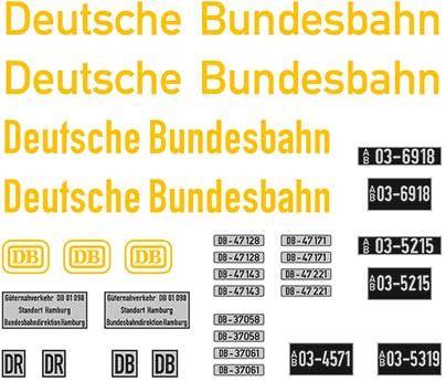 1:87 Beschriftungssatz Deutsche Bundesbahn mit Nummernschildern - Weinert 4452  | günstig bestellen bei Weinert-Bauteile