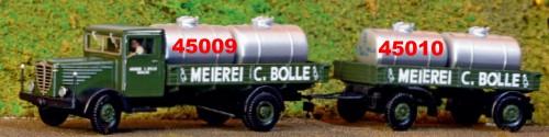 1:87 Anhänger zweiachsig, mit Milchtanks BOLLE - Weinert 45010  - Komplettbausatz | günstig bestellen bei Weinert-Bauteile