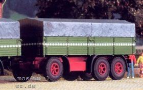1:87 3-achsiger Anhänger mit Plane - Weinert 4501 - passend zu Henschel-LKW 36W3 | günstig bestellen bei Weinert-Bauteile