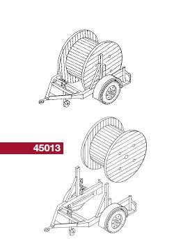 1:87 Anhänger mit Kabelrollen - Weinert 45013  | günstig bestellen bei Weinert-Bauteile