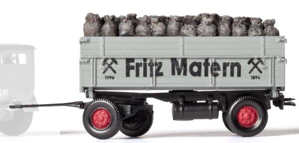 1:87 2-achsiger Anhänger mit Kohlensäcken - Weinert 45018 - Bausatz | günstig bestellen bei Weinert-Bauteile