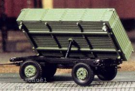 1:87 Anhänger 2-achsig mit Kippvorrichtung, (passend zu Lanz Eil-Bulldog) - Weinert 4509  | günstig bestellen bei Weinert-Bauteile