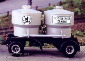 1:87 Anhänger 2-achsig mit Silo-Zementbehälter - Weinert 4551  - Bausatz incl. Beschriftung | günstig bestellen bei Weinert-Bauteile