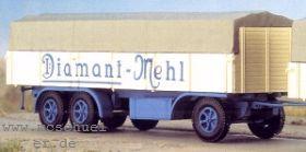 1:87 Anhänger 3-achsig mit hoher Rückwand, Diamant Mehl, (passend zu 4562), Bausatz - Weinert 4563  | günstig bestellen bei Weinert-Bauteile