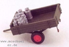 1:87 Einachsanhänger für Lanz mit Milchkannen, Baujahr 1950 - Weinert 4568  | günstig bestellen bei Weinert-Bauteile