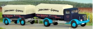 1:87 Büssing NAG 500 mit Beschriftung Interzonen-Express - Weinert 45791 lief bis weit in die 50er Jahre | günstig bestellen bei Weinert-Bauteile