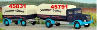 1:87 Anhänger zwei-achsig, mit Beschriftung Interzonen-Express - Weinert 45831  | günstig bestellen bei Weinert-Bauteile