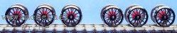 E 94: RP25 Lokradsätze rot für Roco E94 - Weinert 5614  | günstig bestellen bei Weinert-Bauteile