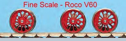 Mehr Details und Kaufen von V 60: RP25 Fine Scale Lokradsätze für Roco V60-Weinert 5626  | günstig bestellen bei Weinert-Bauteile