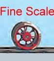 Mehr Details und Kaufen von Vorlauf-Radsatz RP25 Fine Scale d=9,8mm, 7 Speichen-Weinert 56510  | günstig bestellen bei Weinert-Bauteile