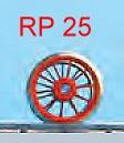 Vorlauf-Radsatz RP25, 10 Speichen, d=11,5mm - Weinert  - im Original = 1000mm | günstig bestellen bei Weinert-Bauteile