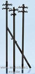 TT Telegrafenmasten, 9 Einzelmasten, 18 Traversen, 3 Abstützungen, Messingbausatz - Weinert 5801  | günstig bestellen bei Weinert-Bauteile