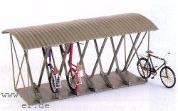 TT Fahrradständer überdacht für 12 Fahrräder, Messing-Ätzteile - Weinert 5838  | günstig bestellen bei Weinert-Bauteile