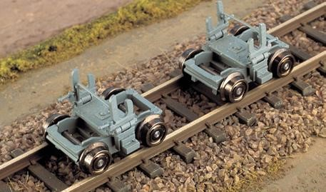 H0m Rollbock der Harzquerbahn, alte Ausführung, 1 Paar - Weinert 6258   - Bausatz | günstig bestellen bei Weinert-Bauteile
