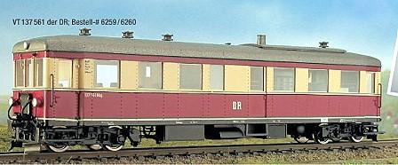 H0mTriebwagen T1 der HSB - Weinert 6259 - Bausatz mit Mabuchi-Motor | günstig bestellen bei Weinert-Bauteile